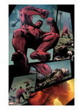 Hulk No.36: Panels with Red Hulk Jumping Posters by Patrick Zircher