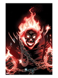 Ghost Rider 1 Cover: Ghost Rider Flaming Posters by Adam Kubert