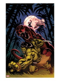 Skaar: King of The Savagle Land No.2 Cover: Skaar, Devil Dinosaur, Moon Boy, and Ka-Zar Prints by Ed McGuinness
