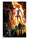 Age of Apocalypse 1 Cover: Phoenix Standing and Flaming, with Wolverine and Others Art by Humberto Ramos