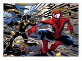 Ultimate Spider-Man No.150: Spider-Man Jumping Art by David LaFuente