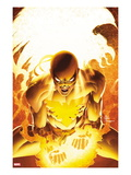 New Avengers No.25 Cover: Iron Fist Screaming Poster by Mike Deodato Jr.