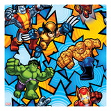 Marvel Super Hero Squad: Colossus, Wolverine, Hulk, Thing, and Iron Man Posing Prints