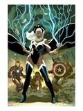 Avengers No.21 Cover: Storm, Captain America, and Iron Man Prints by Daniel Acuna
