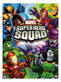 Marvel Super Hero Squad: Wolverine, Captain America, Hulk, Iron Man, Magneto, Loki, and Dr. Doom Prints