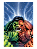Hulk No.30 Cover: Hulk and Rulk Screaming Posters by Ed McGuiness
