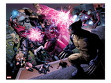 Avengers: The Childrens Crusade No.2: Magneto, Hulkling, Ms. Marvel, Wolverine, and Iron Man Prints by Jim Cheung