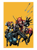 Secret Avengers No.22 Cover: Hawkeye, Beast, Valkyrie, Black Widow, Giant Man, and Captain Britain Poster por Arthur Adams