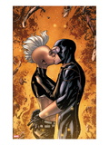 Astonishing X-Men No.44: Storm and Cyclops Kissing Prints by Mike McKone
