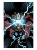 Astonishing Thor No.2 Cover: Thor Holding Mjonir Prints by Ed McGuinness