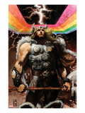 Thor: For Asgard No.4 Cover: Thor Standing Affiche par Simone Bianchi