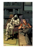 Daken: Dark Wolverine No.13 Cover: Daken and Moon Knight Sitting Prints by Giuseppe Camuncoli