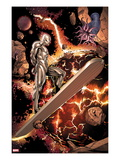 Silver Surfer 3: Riding through Space Print by Harvey Tolibao