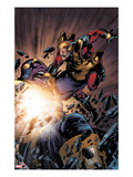 The Thanos Imperative 5: Captain America and Thanos Fighting Art by Miguel Angel Sepulveda