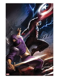 Captain America No.610 Cover: Captain America and Baron Zemo Fighting Art by Marko Djurdjevic