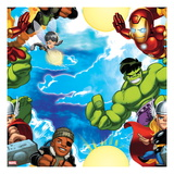Marvel Super Hero Squad: Hulk, Thor, Nick Fury, Wasp, and Iron Man Posing Posters