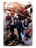 Avengers: The Childrens Crusade No.4: Captain America, Ms. Marvel, Iron Man, Spider-Man and Others Affischer av Jim Cheung