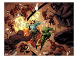 New Avengers 5: Dr. Strange and Wong Fighting Prints by Stuart Immonen