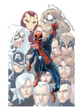 The Amazing Spider-Man 648 Cover: Spider-Man Swinging Prints by Humberto Ramos