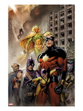 Chaos War: Dead Avengers 1 Cover: Captain Marvel, Yellowjacket, Swordman, Vision, Deathcry, and Do Posters by Tom Grummett