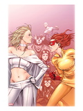 Young Allies No.6 Cover: Firestar Standing Prints by Takeshi Miyazawa