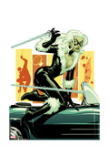 Amazing Spider-Man Presents: Black Cat 3 Cover: Black Cat Jumping Print by Amanda Conner