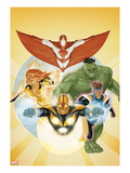 I Am an Avenger No.3 Cover: Stingray, Firestar, Hulk, Nova, and Justice Print by Phil Noto