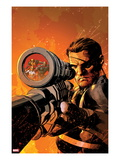 New Avengers No.9 Cover: Nick Fury Standing with a Gun Prints by Mike Deodato Jr.