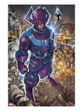 Chaos War No.2: Galactus and Silver Surfer Standing Print by Khoi Pham