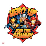 Marvel Super Hero Squad Badge: Hero Up, Join the Squad! Wolverine, Thor, and Iron Man Posing Posters