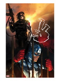 Capitan America No.612 Cover: Captain America and Winter Soldier Standing Posters by Marko Djurdjevic