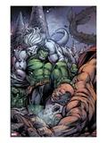 Incredible Hulks No.631 Cover: Hulk and Wendigo Fighting Posters by Paul Pelletier