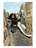 X-23 No.13: Spider-Man and X-23 Swinging through the City Poster by Phil Noto