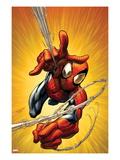 Ultimate Spider-Man No.160 Cover: Spider-Man Shooting Web Affiches par Mark Bagley