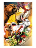 Avengers vs. Pet Avengers 1: Throg, Zabu, Lockjaw, Lockheed, Redwing, Hairball, and Ms. Lion Posters by Ig Guara