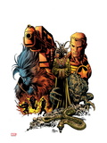 Secret Avengers No.8 Cover: Steve Rogers and Beast Posing Prints by Mike Deodato Jr.
