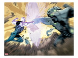 Ultimate Mystery No.2: Ben and Grimm Fighting Print by Rafa Sandoval