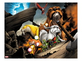 Avengers vs. Pet Avengers No.2: Zabu, Hairball, Ms. Lion, Lockjaw, and Redwing Posing Prints by Ig Guara
