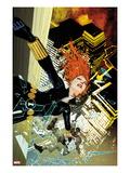 Black Widow No.7 Cover: Black Widow Falling Art by Travel Foreman