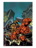 Hulk 37 Cover: Red Hulk and Thing Fighting Poster by Carlo Pagulayan