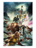 Thunderbolts No.157 Cover: Luke Cage, Songbird, Juggernaut, Ghost, Moonstone, and Satana Posters by Jean-Sebastien Rossbach