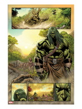 Skaar: King of The Savage Land No.3: Skaar Walking Poster by Brian Ching
