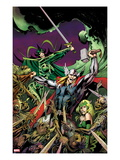 Avengers Prime No.3 Cover: Thor, Enchantress, and Hela Fighting Art by Alan Davis