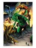 Avengers vs. Pet Avengers 1: Fin Fang Foom Standing Posters by Ig Guara