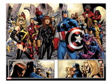 Fear Itself No.7: Ms. Marvel, Iron Fist, Iron Man, Spider-Man, Captain America and Others Posters by Stuart Immonen