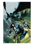 Uncanny X-Force No.1 Cover: Wolverine, Psylocke, Deadpool, Fantomax, and Archangel Posing Posters by Esad Ribic