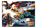 The Thanos Imperative 4: Beta-Ray Bill, Nova, Gladiator, Silver Surfer, and Ronan the Accuser Poster by Miguel Angel Sepulveda