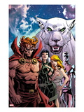Chaos War: God Squad No.1 Cover: Hellstrom, Sersi, Venus, and Silver Surfer Posing Posters by Dan Panosian