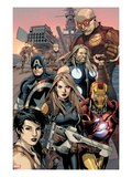 Ultimate Avengers vs. New Ultimates 2: Carol Danvers, Iron Man, Captain America, Thor, Giant Man Posters by Leinil Francis Yu