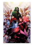 Avengers: The Childrens Crusade 4 Cover: Scarlet Witch, Wiccan, and Dr. Doom Art by Jim Cheung